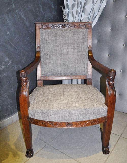 restauration de fauteuils empire. Black Bedroom Furniture Sets. Home Design Ideas