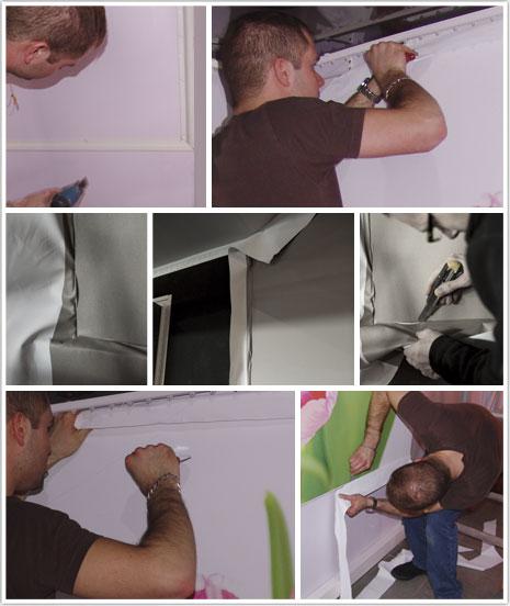 Haguenier technique de pose de la toile imprimée