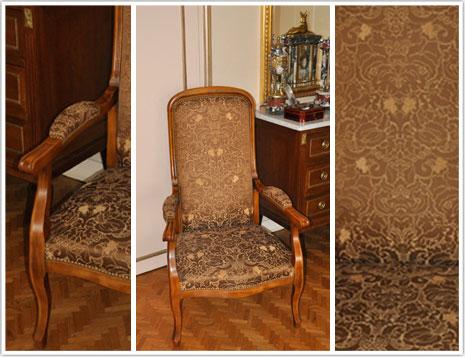 r fection fauteuil voltaire haguenier. Black Bedroom Furniture Sets. Home Design Ideas