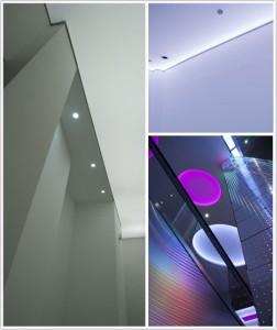 Haguenienier plafond tendu  translucide et rétro-éclairé