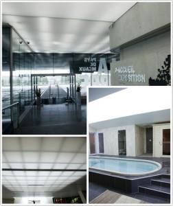 Haguenier plafond tendu transparence