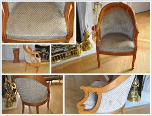 Haguenier tapisserie rénovation fauteuil Charles X