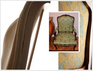 Haguenier style Louis XV en tapisserie