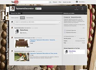 Haguenier chaîne Tapisserie Décoration sur YouTube