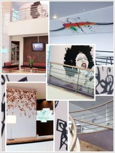 Haguenier, toile imprimée murale pour l'hôtel Holiday Inn de Noisy