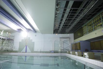 Pr paration plafond piscine 1 - Preparation accouchement piscine ...