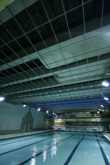 Pr paration plafond piscine 2 - Preparation accouchement piscine ...