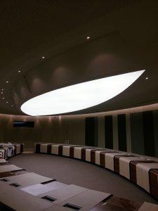Haguenier plafond tendu translucide rétro-éclairé