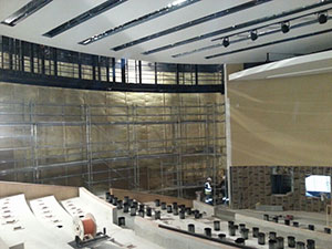 Haguenier tissu tendu revêtement acoustique d'auditorium