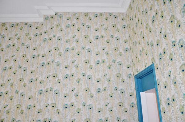 Haguenier Tissu tendu mural chez un particulier
