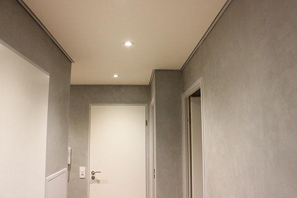 peinture raccord mur plafond