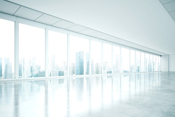 Plafond tendu blanc mat en laize de 5,50m