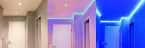 éclairage couloir bandeau