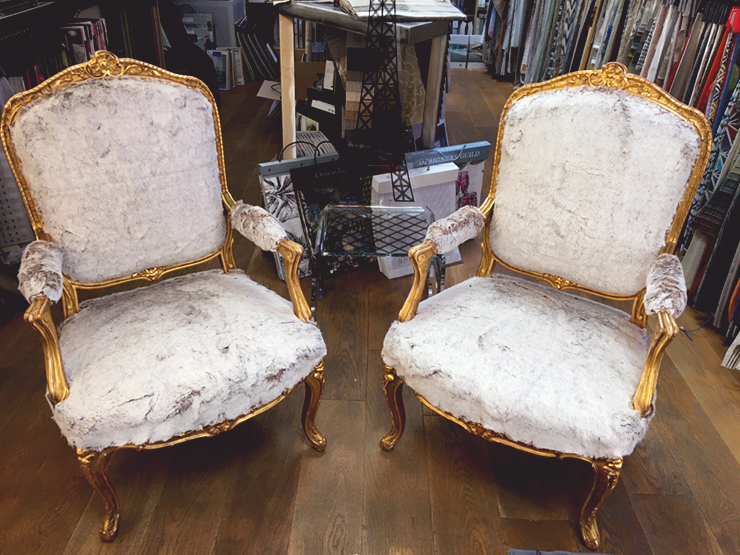 fauteuils fourrure
